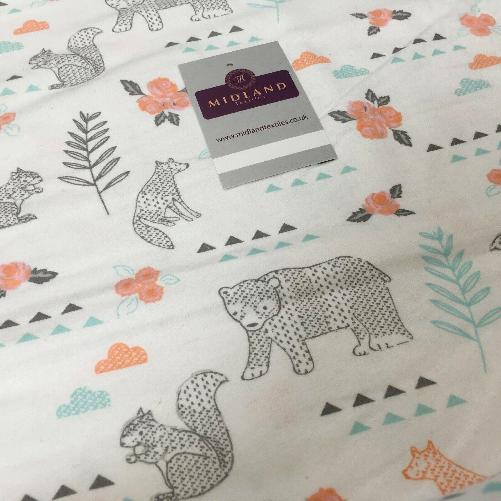 110 cm width 3 Designs Soft Brushed Flannel Cotton High Quality