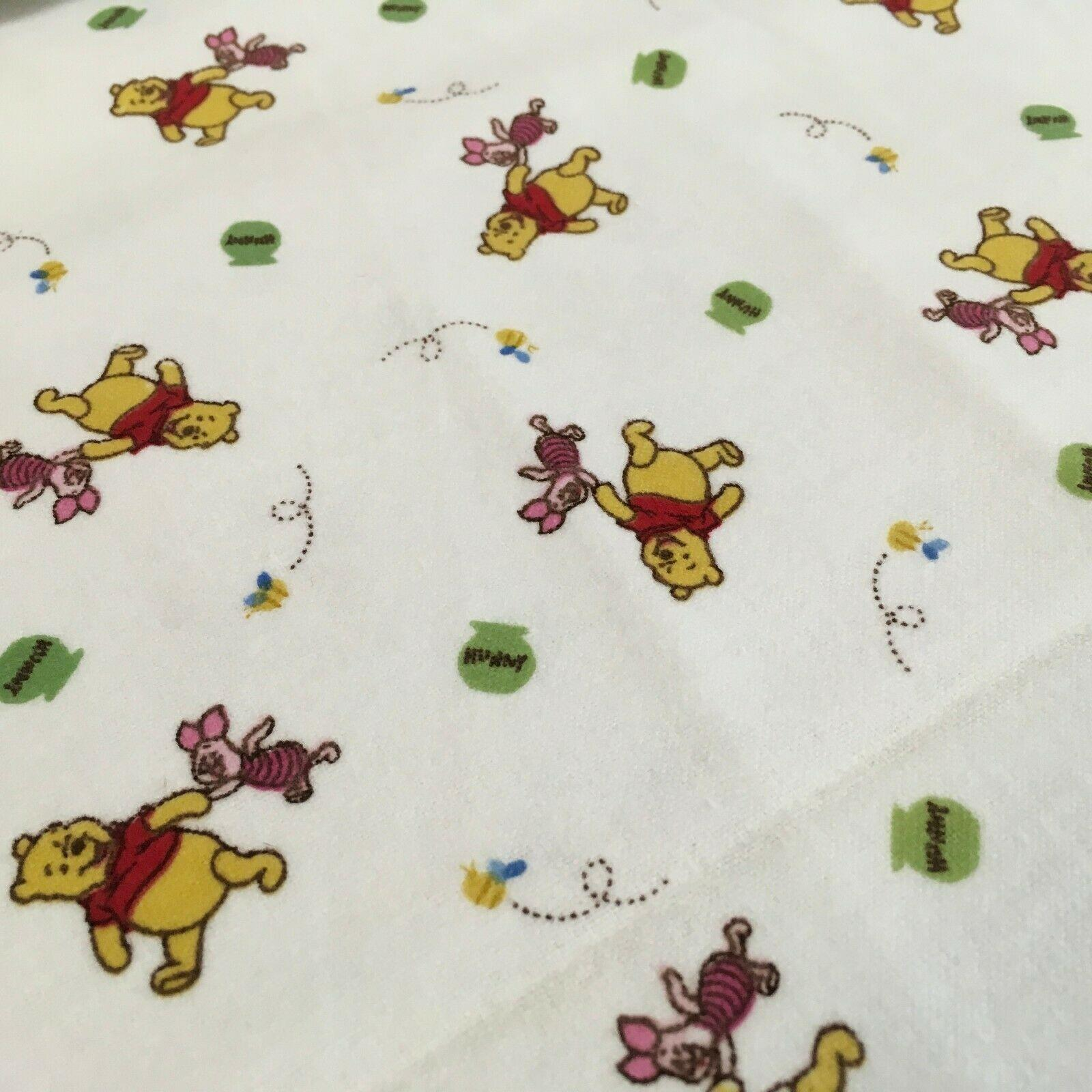 Winnie the pooh and piglet Soft brushed cotton Winceyette Fabric 150 cm MK1223-1
