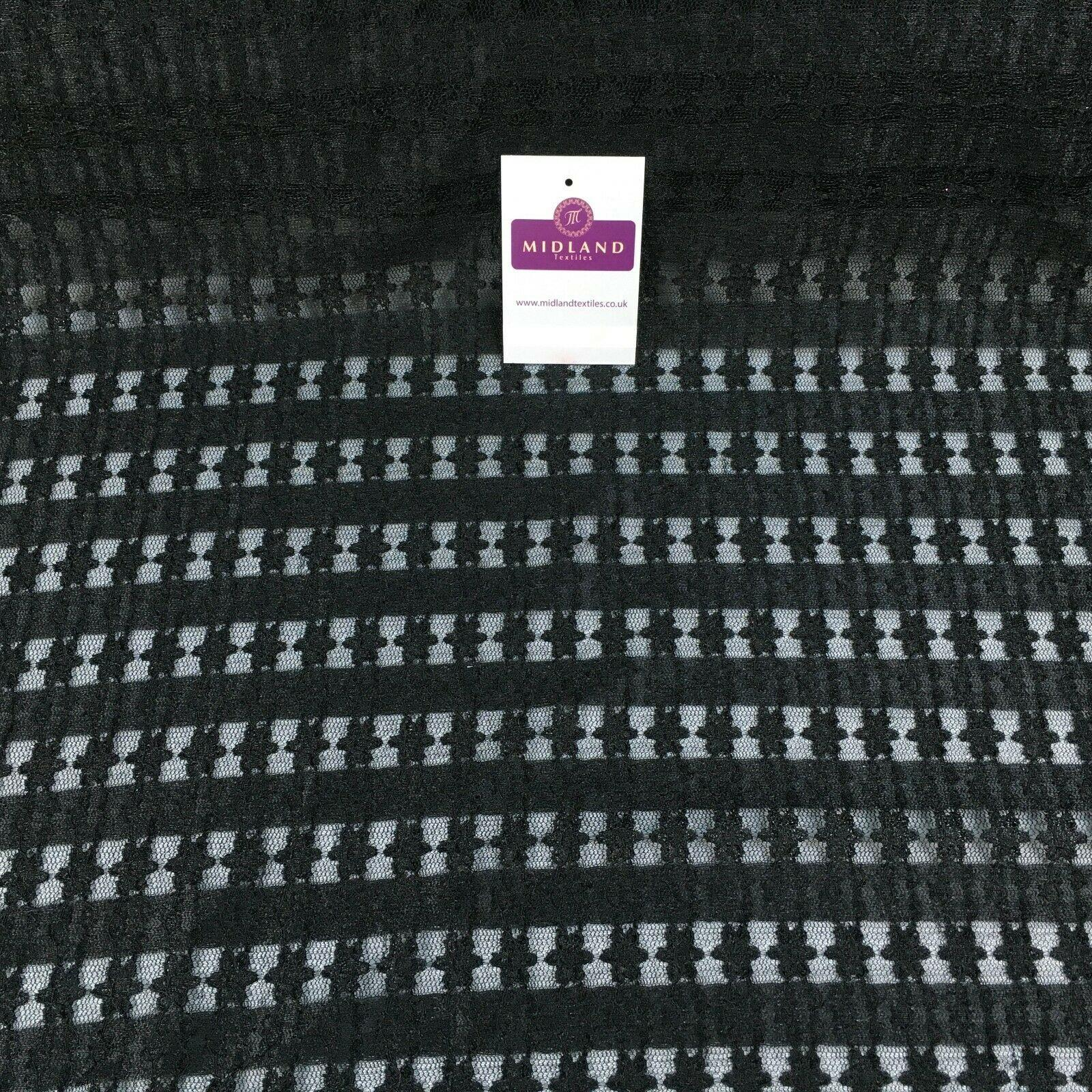 Black net stretch spandex Stretch mesh Fabric 139cm M186-45 Mtex