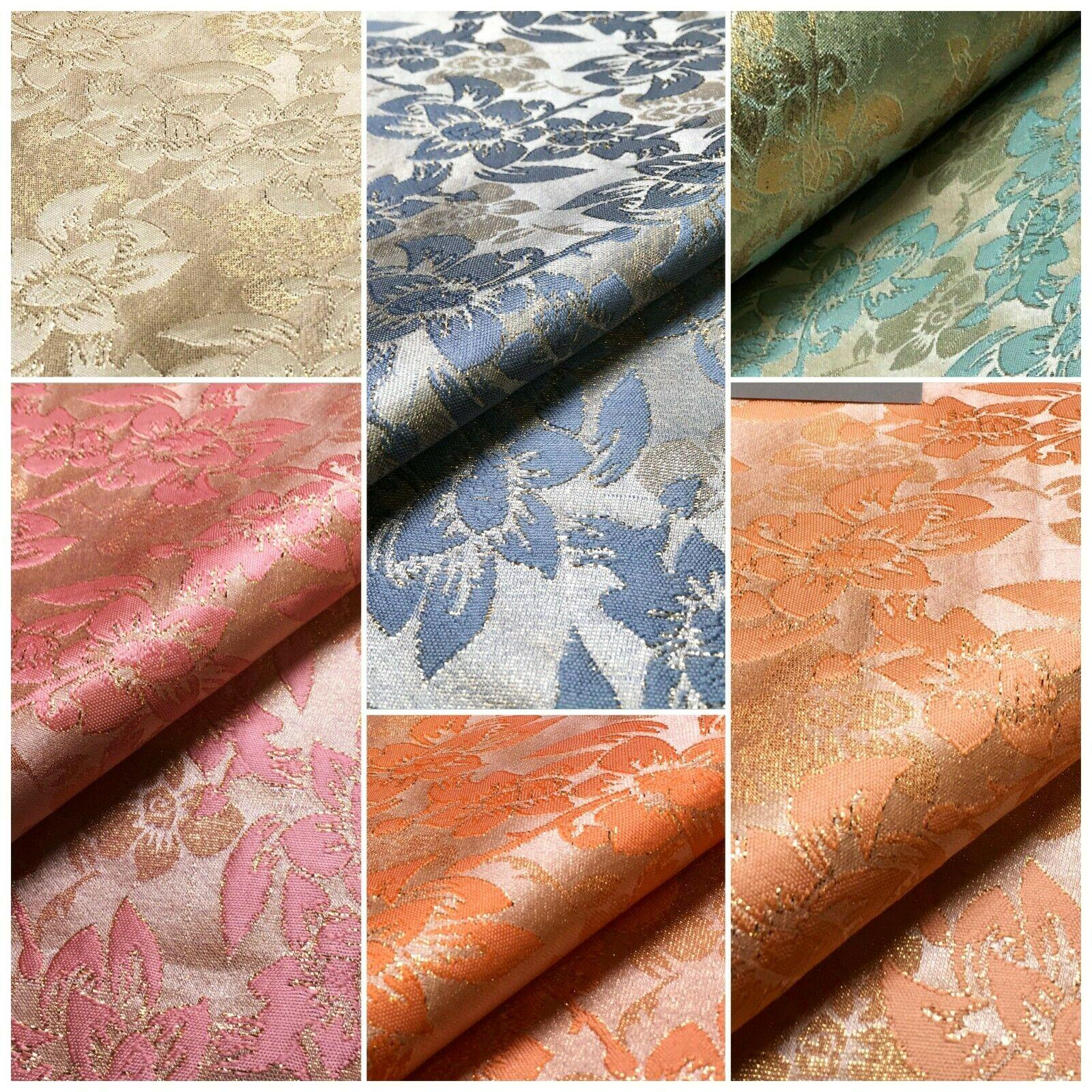 Floral Jacquard Indian Faux Silk Banarsi brocade Fabric 150 cm MA1241