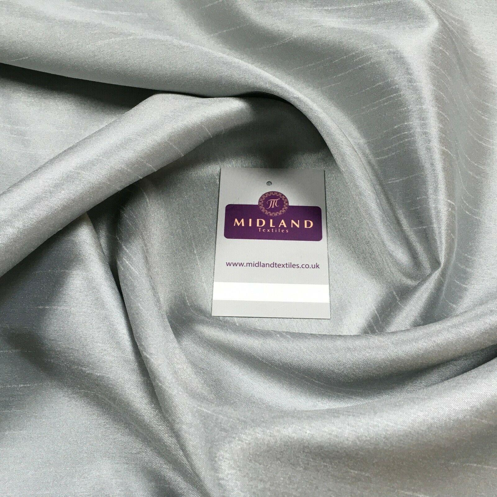 Plain Shantung Satin Backed Dupion Faux Silk Dress Fabric 147 cm MD1293 Mtex