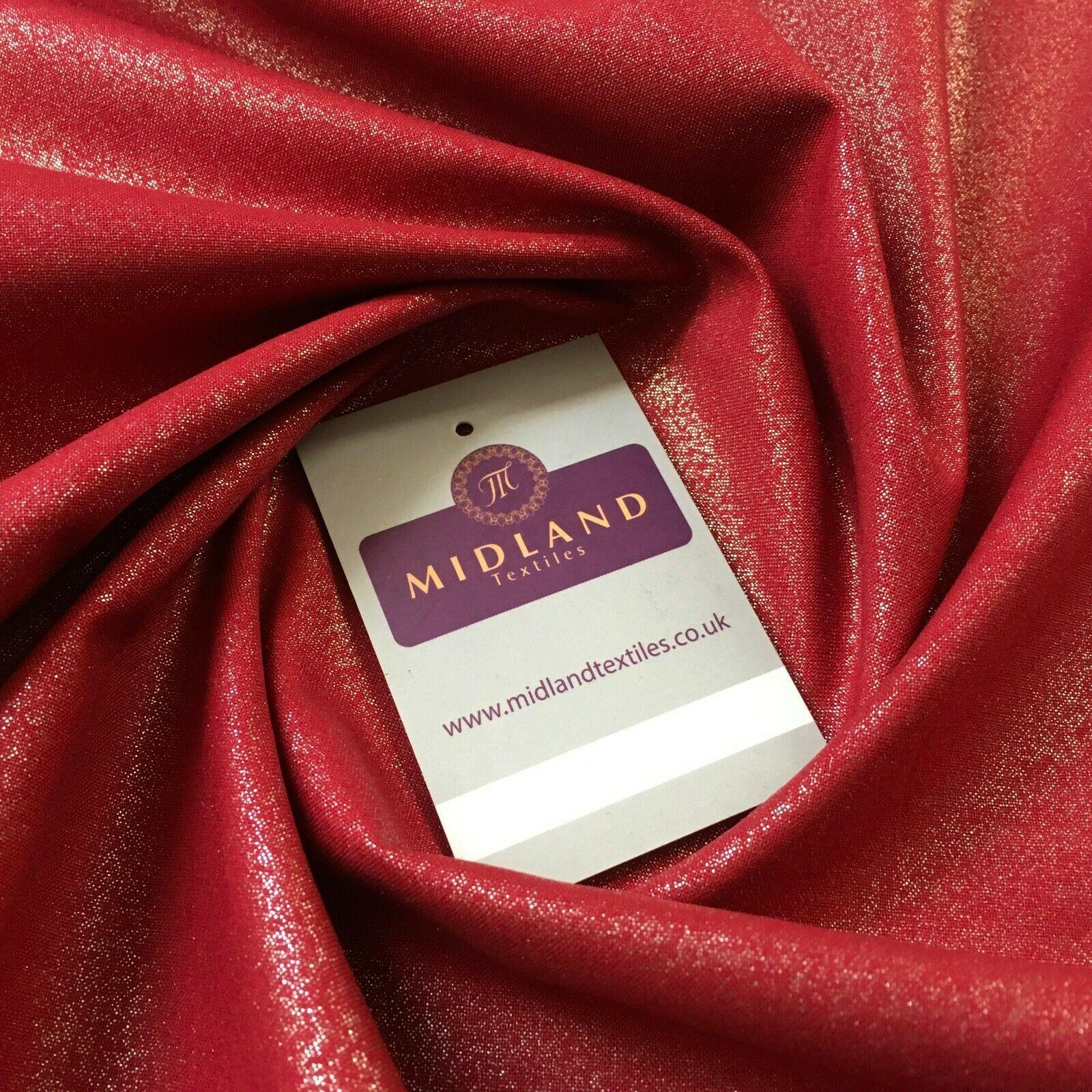 Silver Shimmer Foil on Berry colour Craft 100% Cotton 110cm MK1332