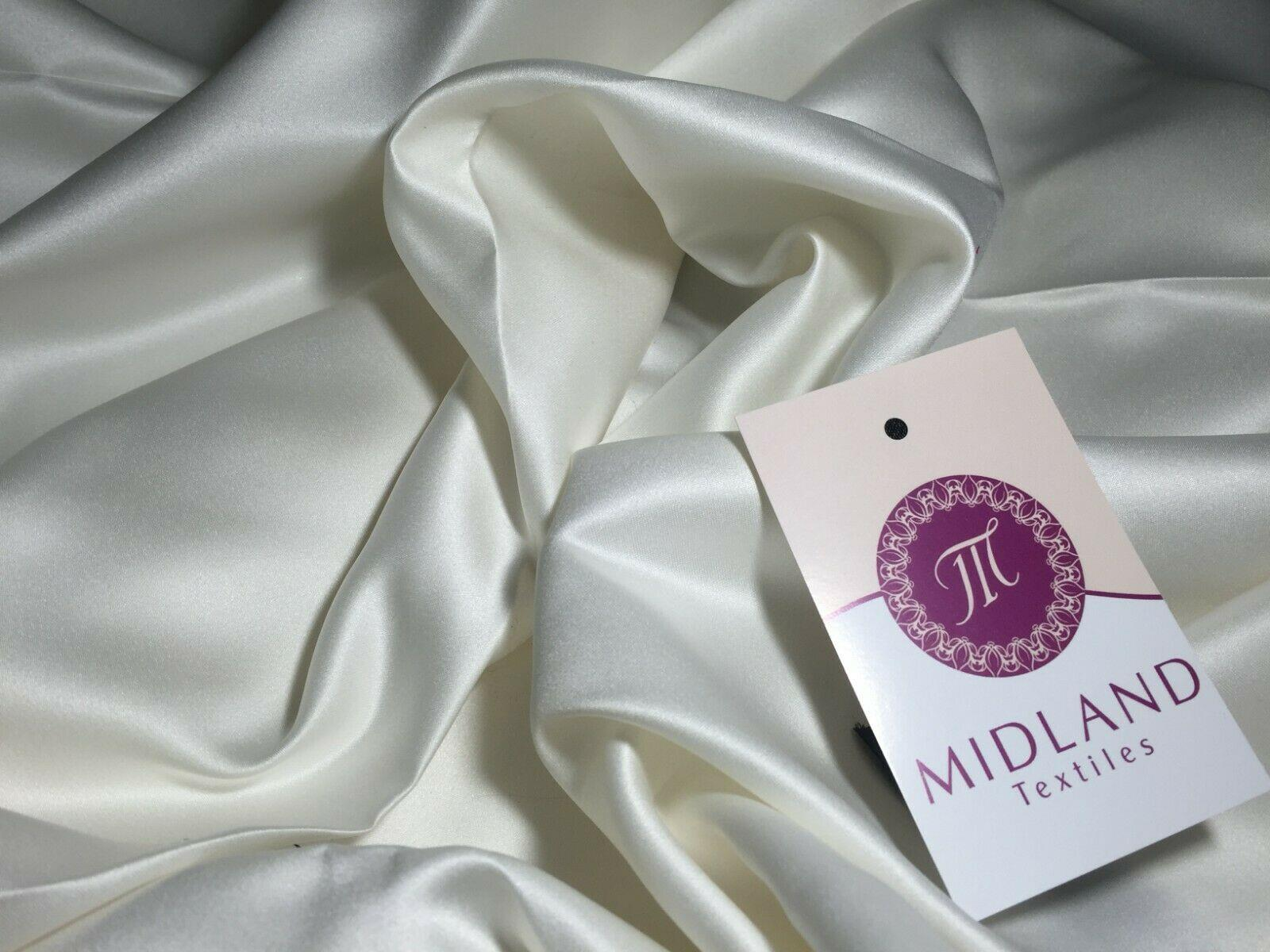 "Peau-De-Soie medium weight Matt Satin wedding dresses fabric 58"" Wide MK965"