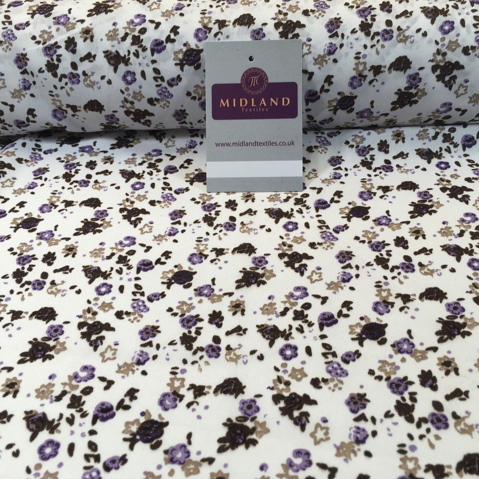 "Small Ditsy Floral Printed Poly cotton dress fabric 44"" wide M761 Mtex"
