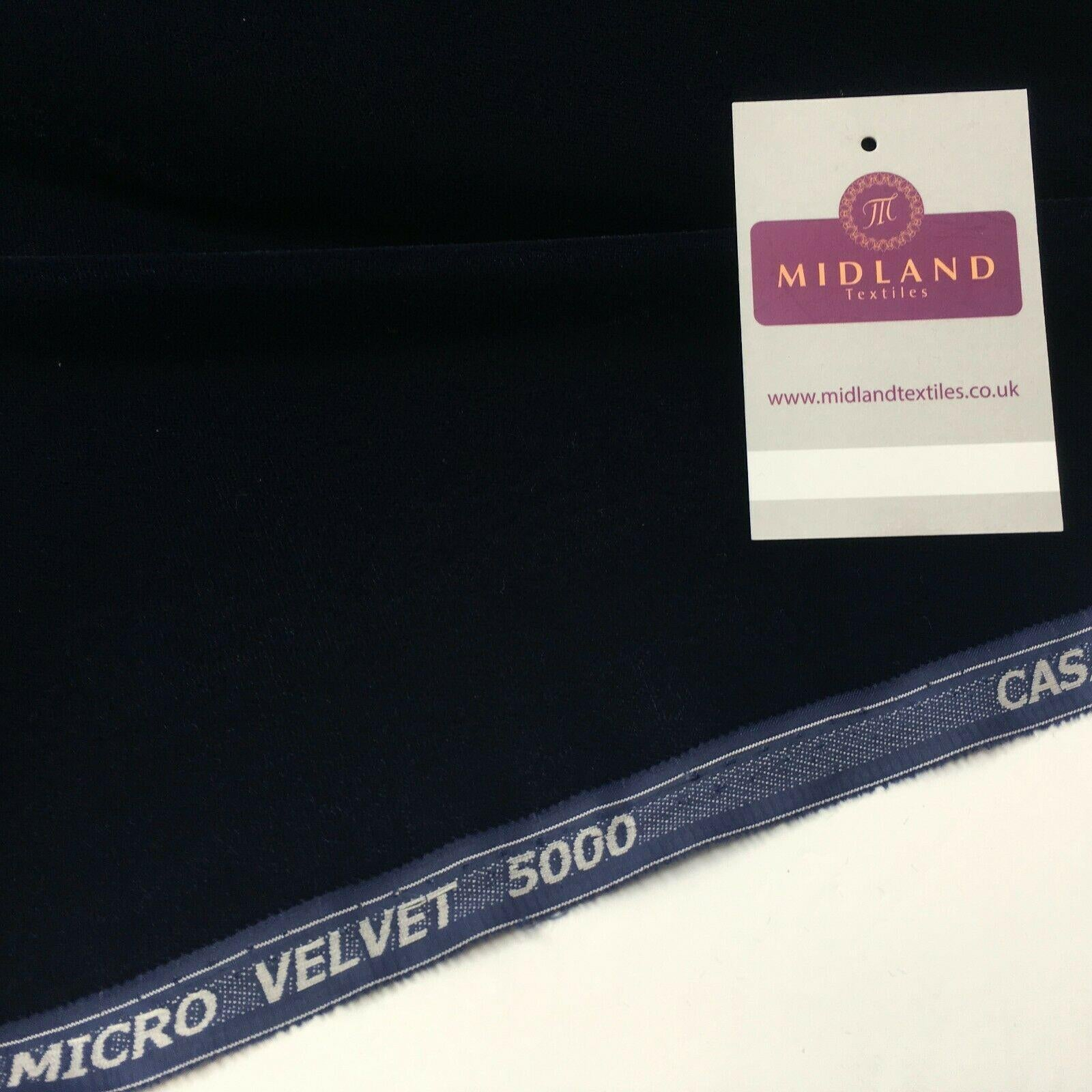 Plain Micro Velvet dress Fabric 110cm ME816