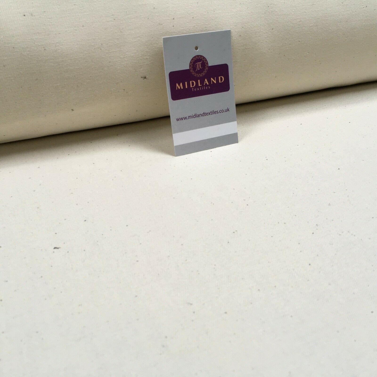 Natural Bull Denim Loom state Heavy Calico Fabric 150cm Wide MS1353