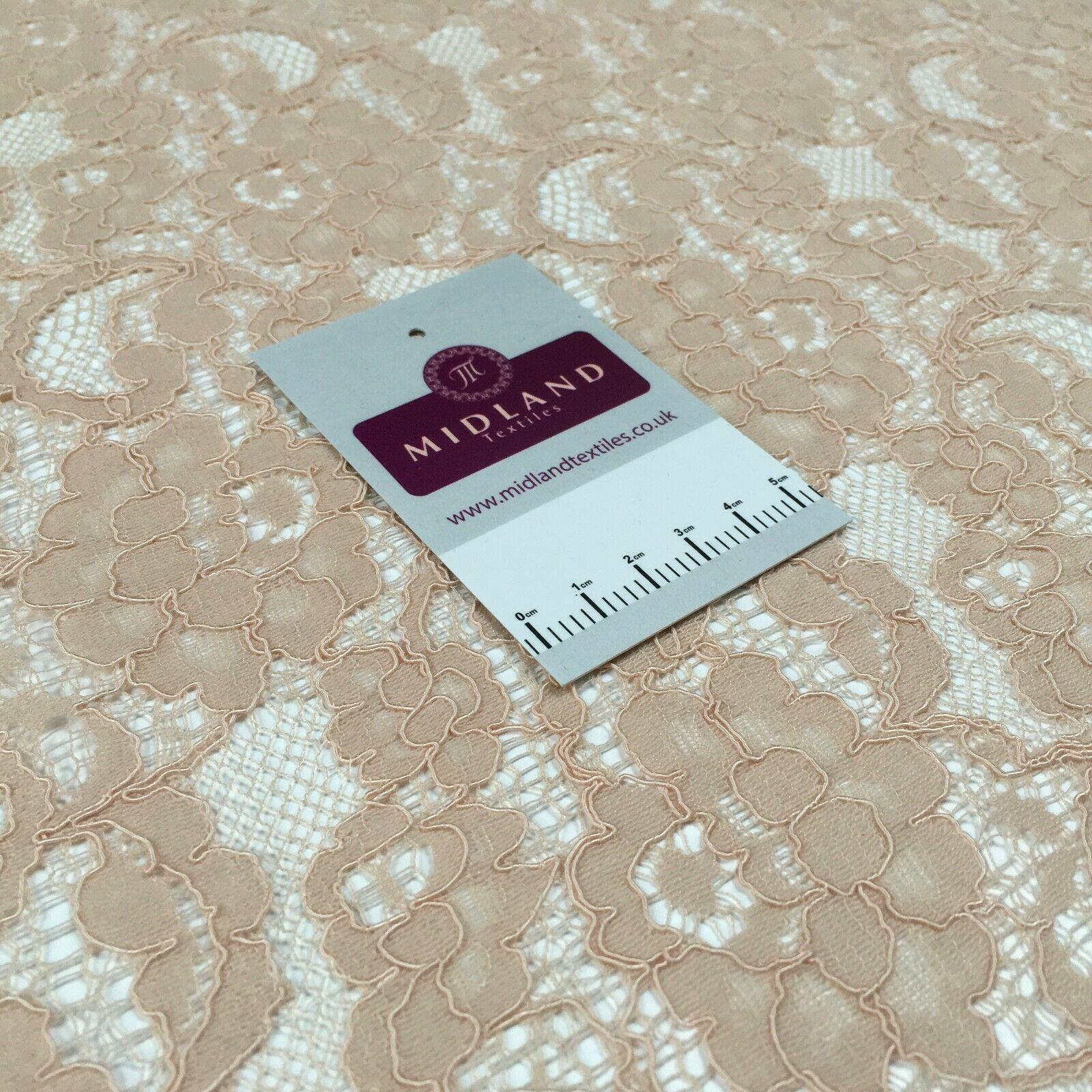 Skin Lace Corded floral dress Fabric 150 cm M186-53 Mtex