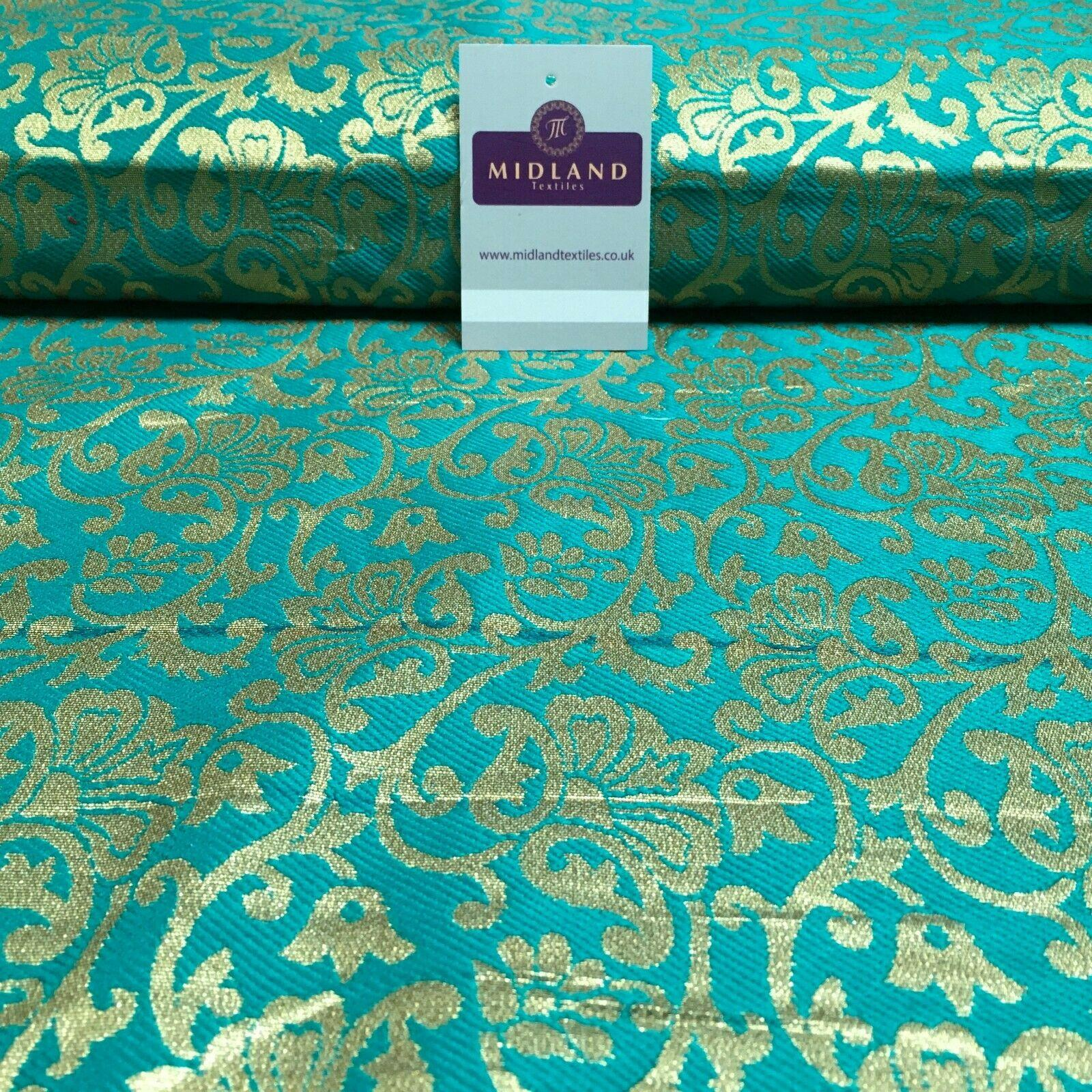 Indian Floral Ornamental Banarsi Brocade Waistcoat Fabric 110cm MR1336