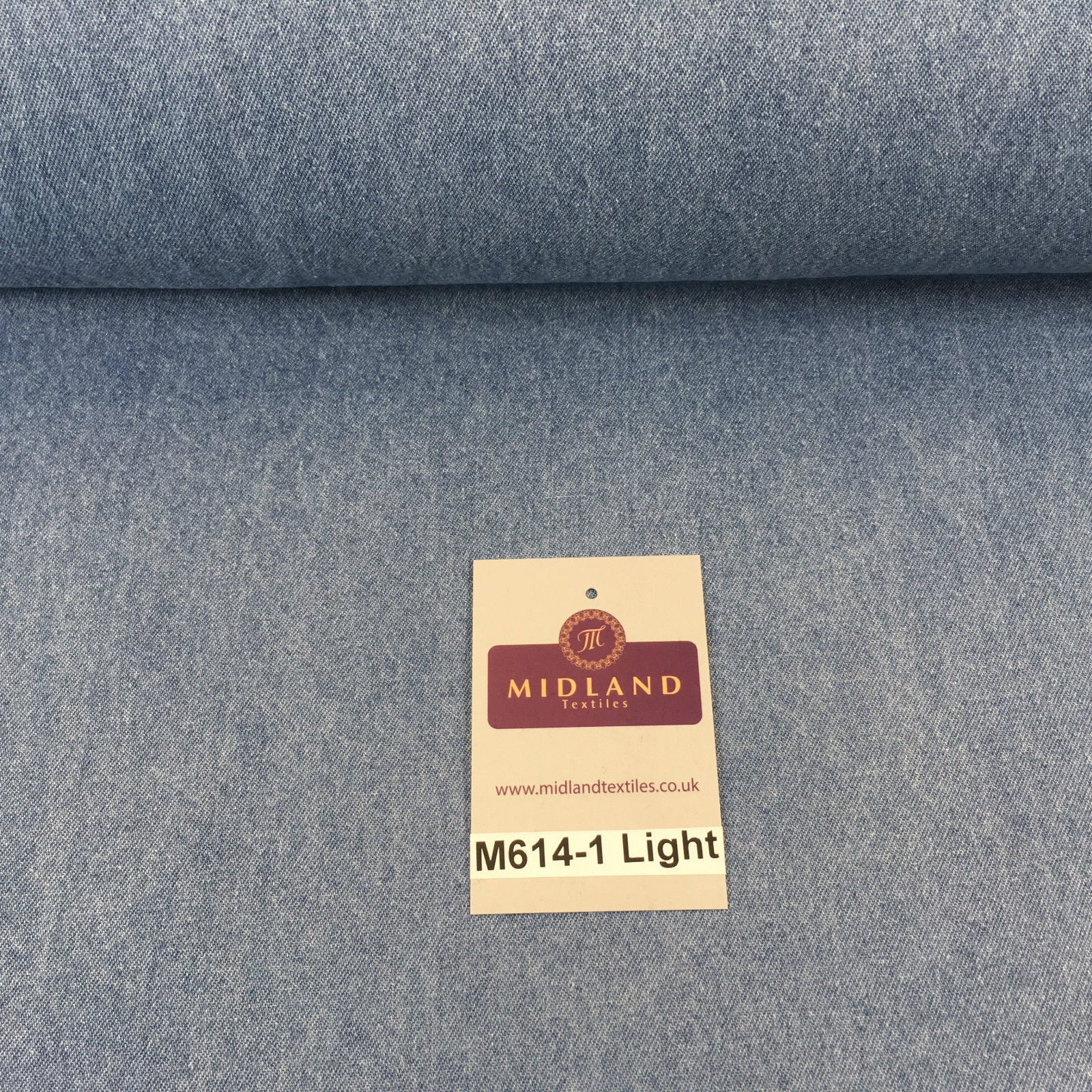 "8oz Washed Denim Light-Medium-Dark Blue Fabric 100% Cotton 58"" Wide M614 Mtex"