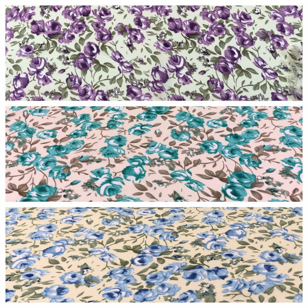"Floral Lightweight Georgette Dress fabric 58"" M775 Mtex - Midland Textiles & Fabric"