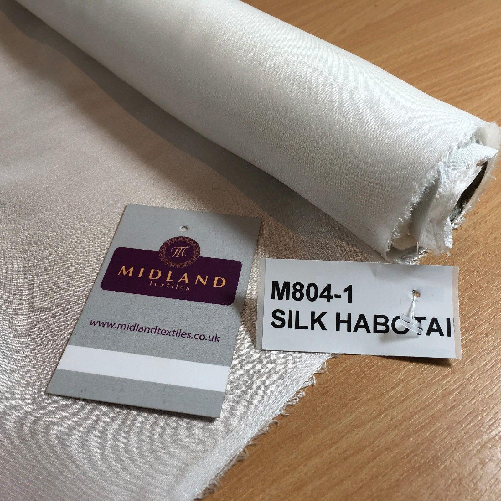 "White 100% Silk Habotai Lightweight used for lining, Silk Paintings 36"" M804"