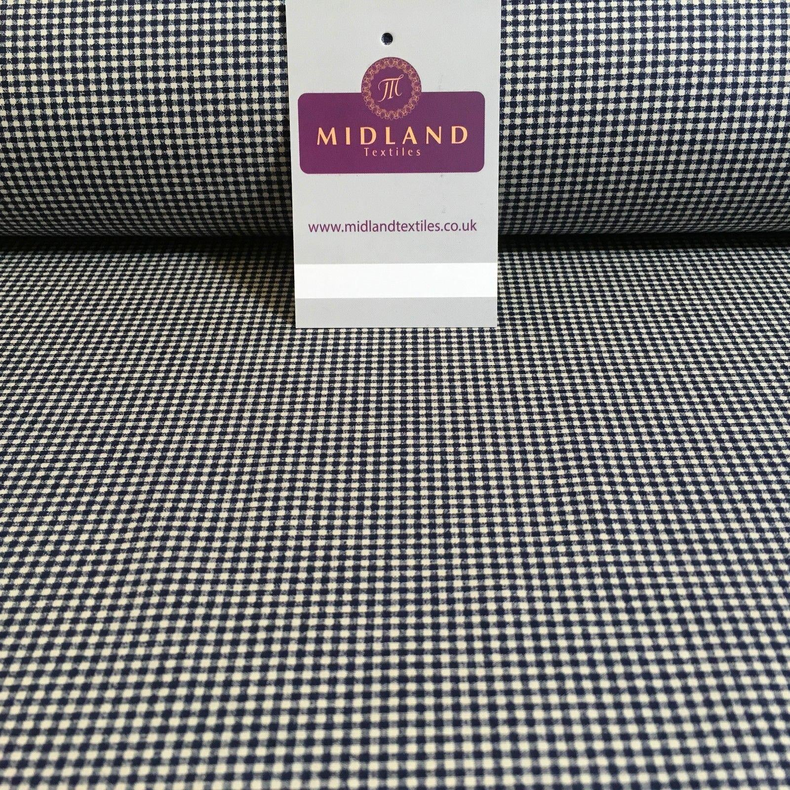 "Micro check Printed Cotton Poplin Gingham dress fabric 45"" M759 Mtex"