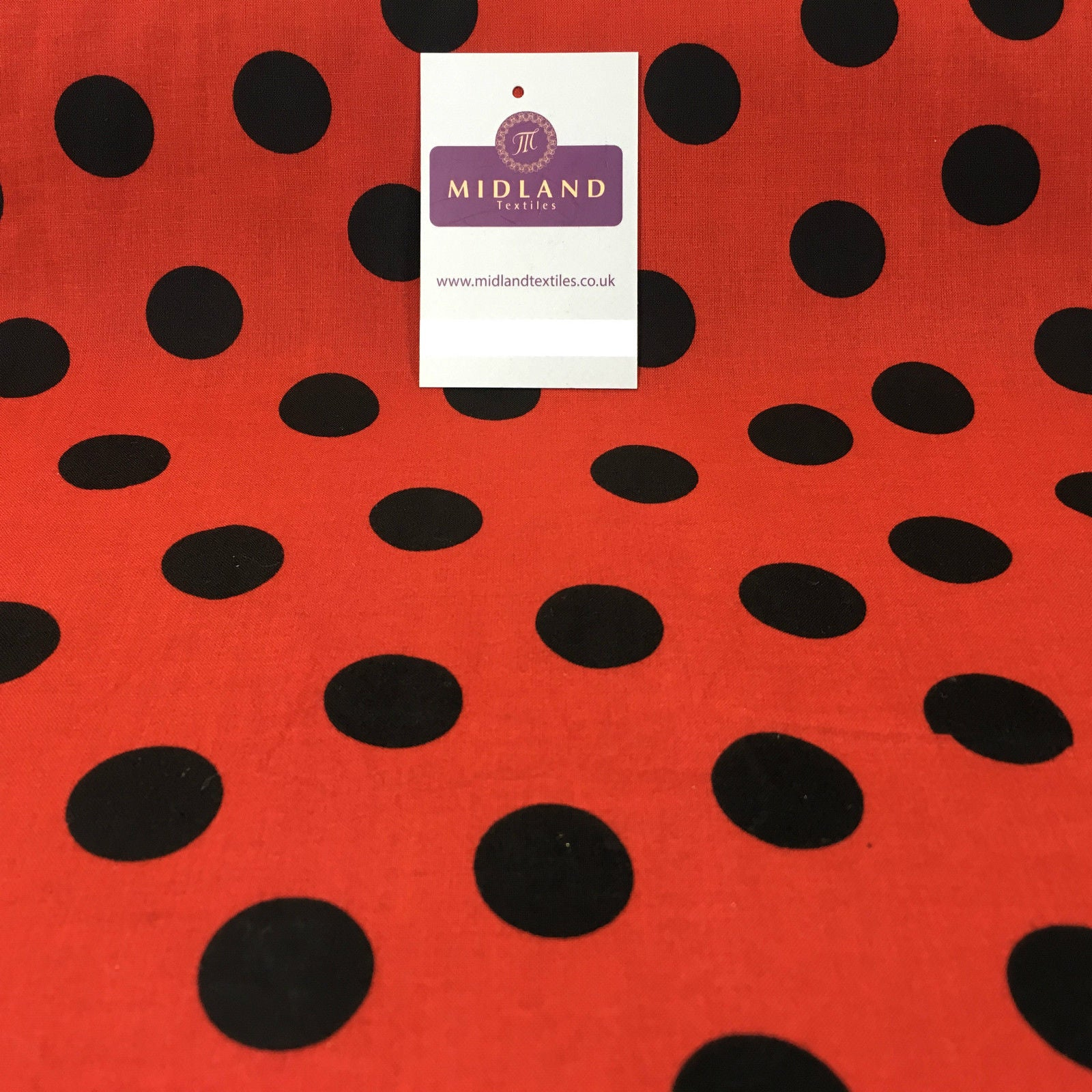 "Polka Dot Spot 100% Cotton Fabric 58"" sold by Metre Mtex M144"