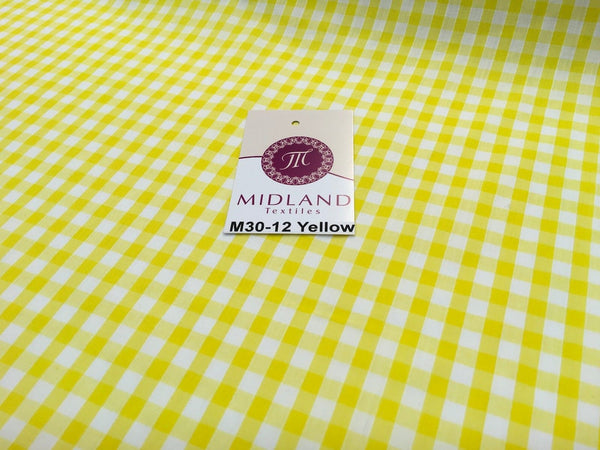 "1/4 Gingham Fabric Material for clothing, aprons, tablecloth Schools 44""wide M30"