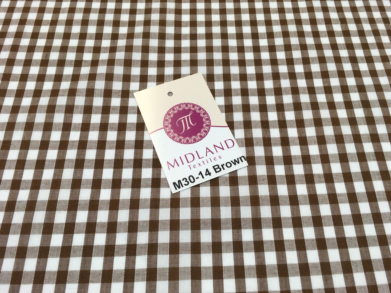 "1/4 inch Gingham Fabric Material for clothing, aprons, tablecloth Schools 44""wide M30"