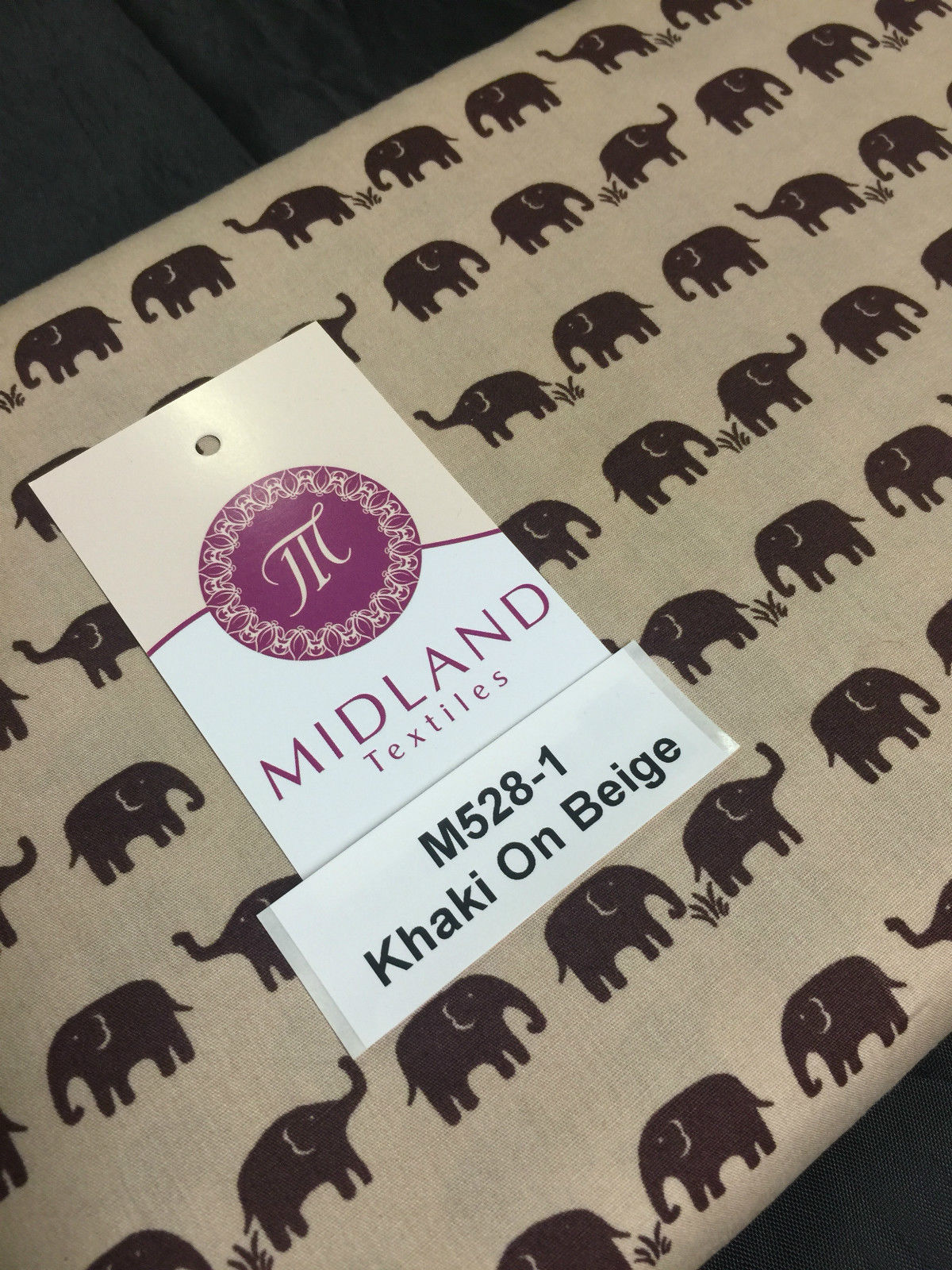 "Retro Novelty Elephant Herd Fabric Print 100% Cotton 44"" Wide M528 Mtex"