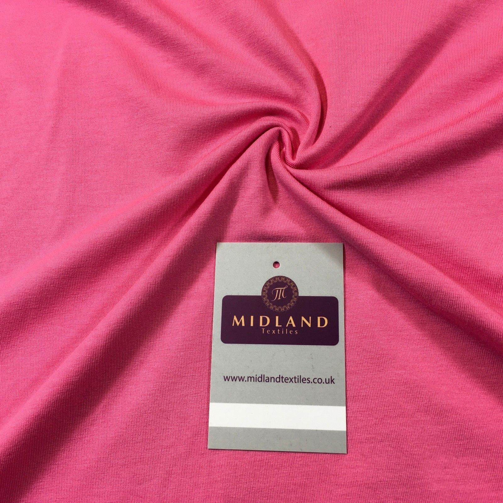 "Plain Pink Cotton Jersey ideal for t-shirting fabric 58"" M720-32 Mtex"