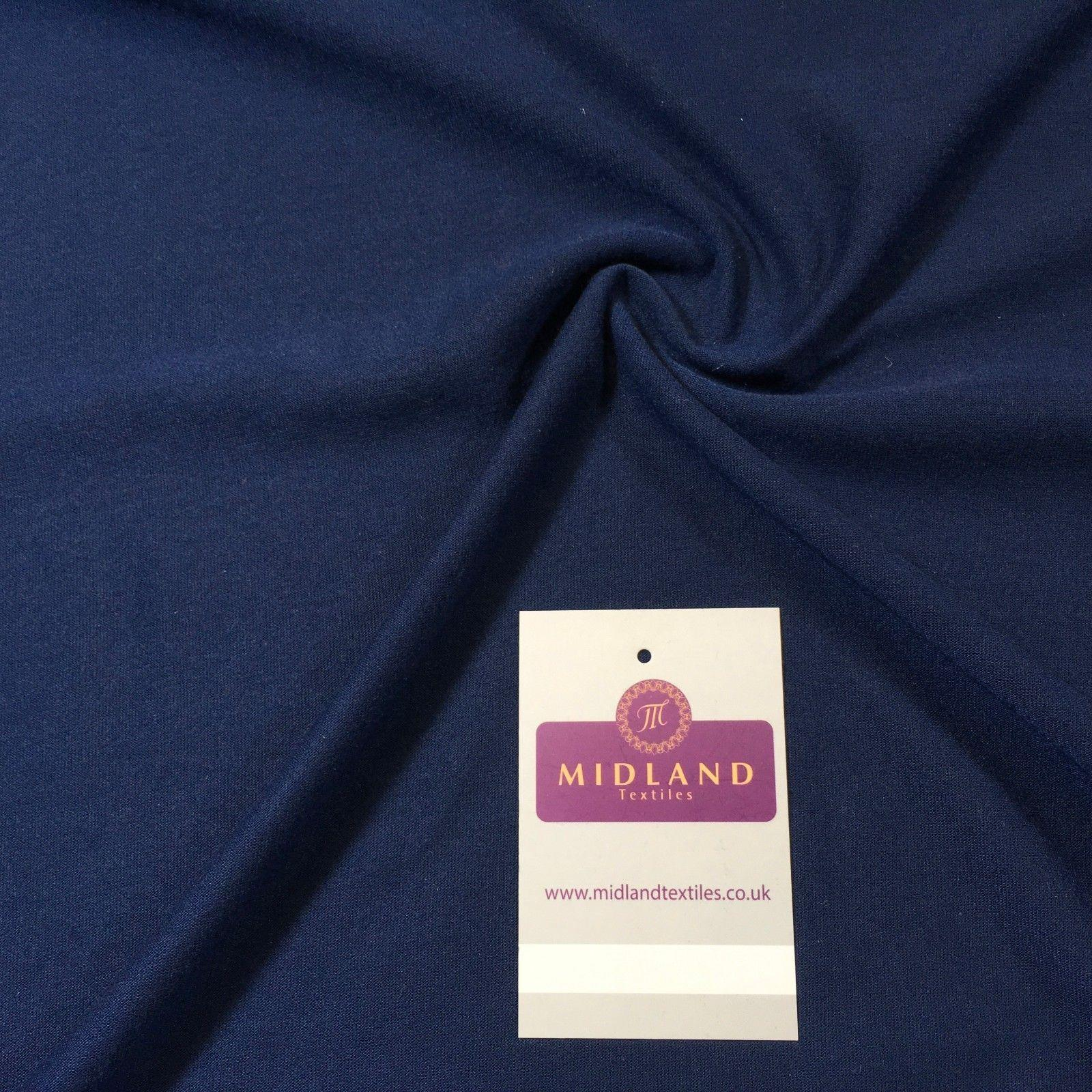"Navy blue soft knitted Dress Fabric 58"" M720-46 Mtex"