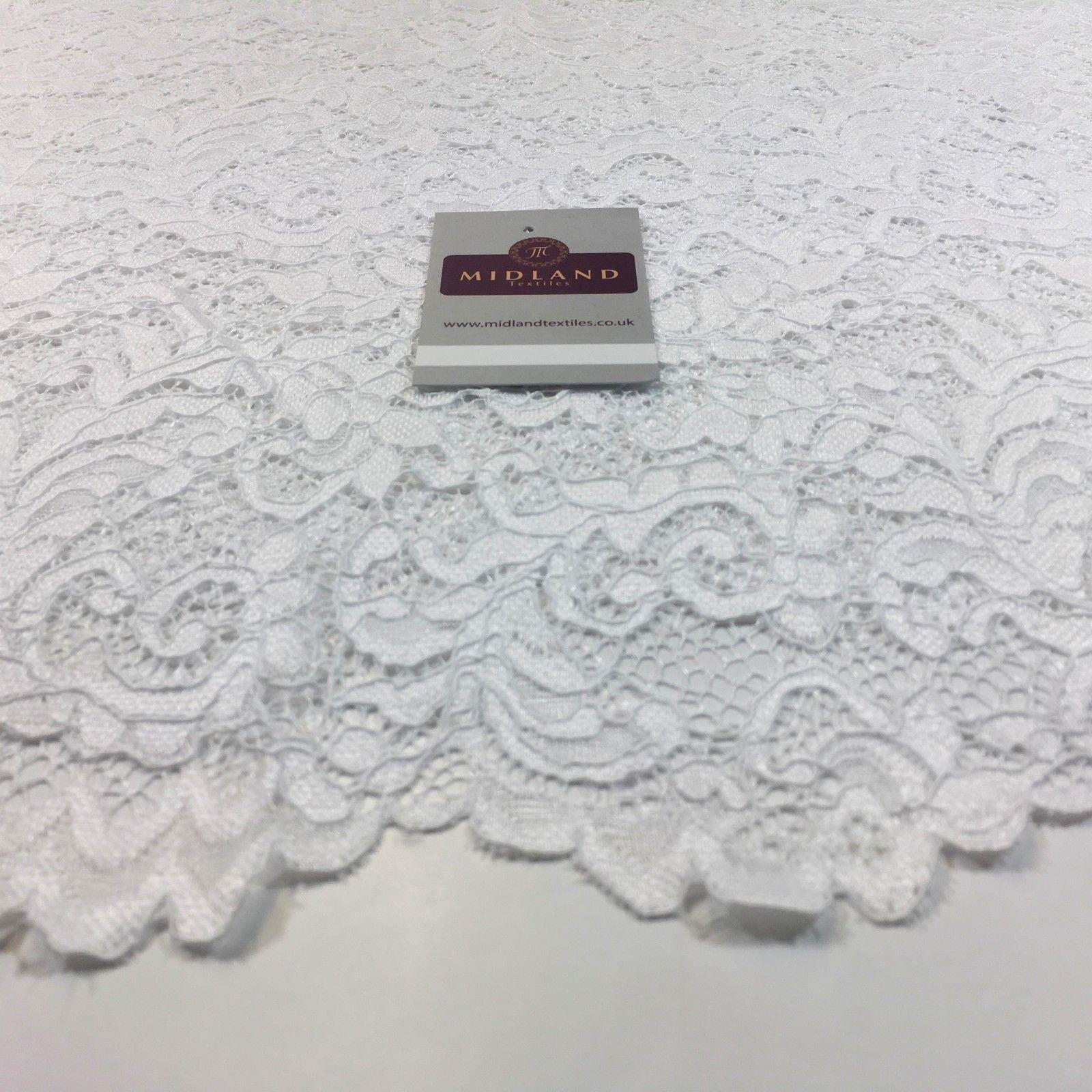 "Lightweight soft corded Raschel lace 58"" Wide M770 Mtex"
