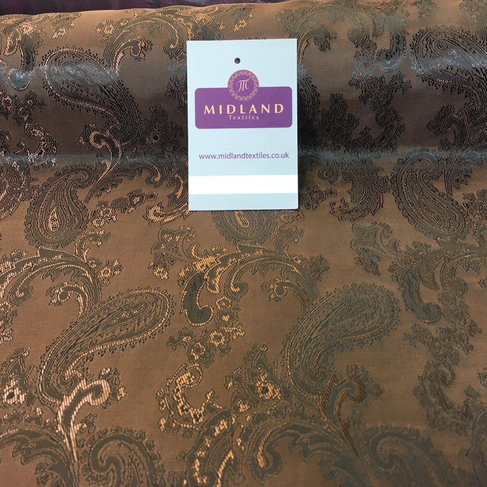 "Two Toned Paisley Metallic Jacquard Lining perfect for ties 56"" Wide M771 Mtex"
