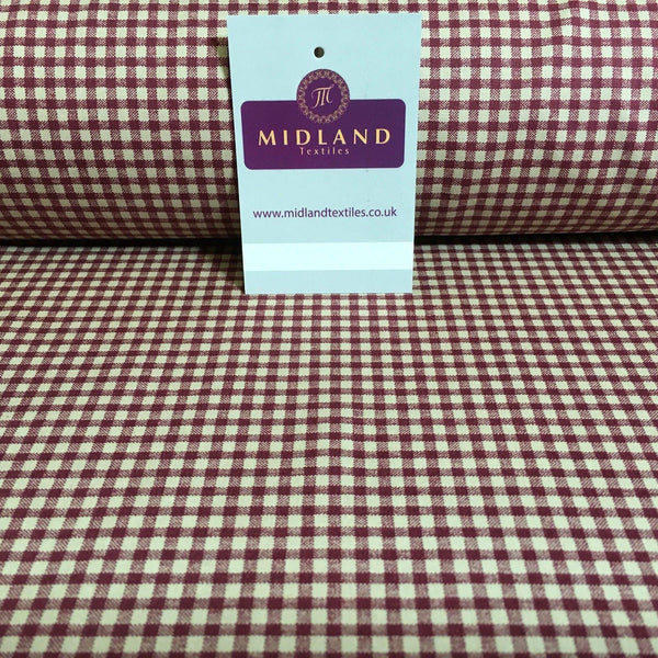 "Printed Cotton Poplin Checked Gingham Dress Fabric 44"" M758 Mtex"