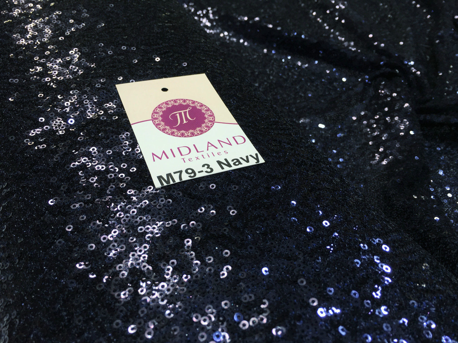 "Sensational 3mm Sewn On allover Sequins On Net Fabric 48"" Wide Dress Fabric M79 Mtex"