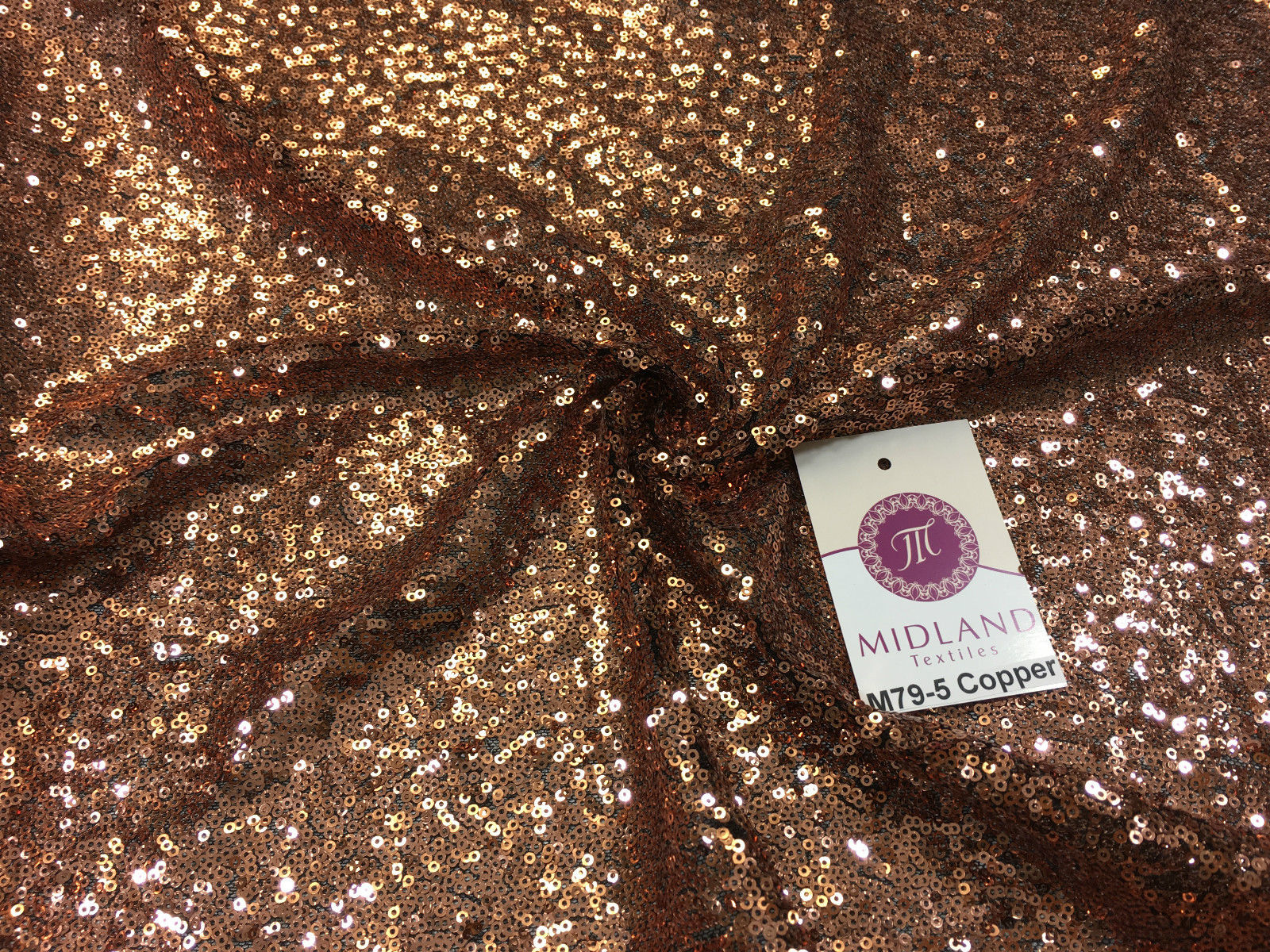 "3mm Sewn On Sequins On Net Fabric 48"" Wide Dress Fabric M79 Mtex"