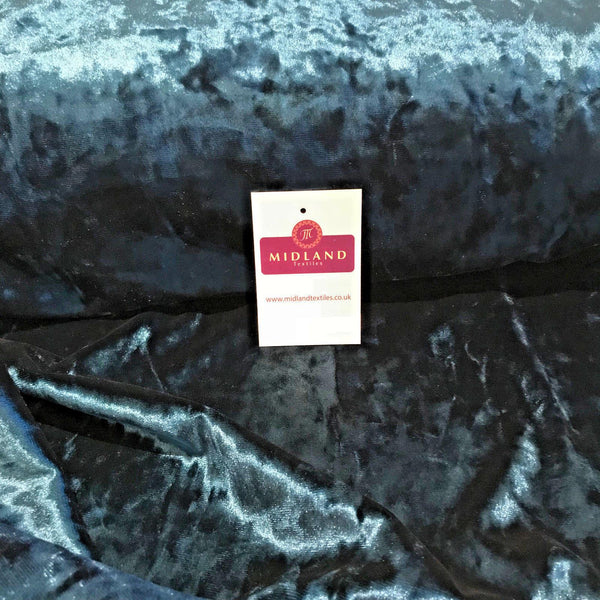 "Ice Crushed plush Velvet ideal for upholstery Dress Fabric 58"" Wide M796 Mtex"