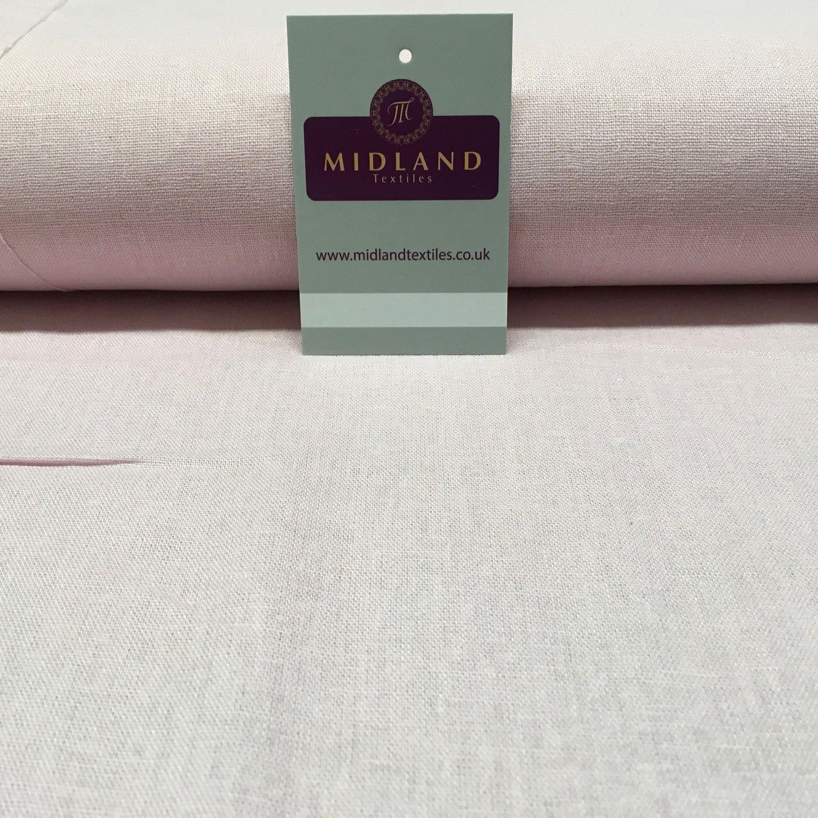 "100% Plain Indian Linen Dress Fabric 52"" Wide MK899 Mtex"