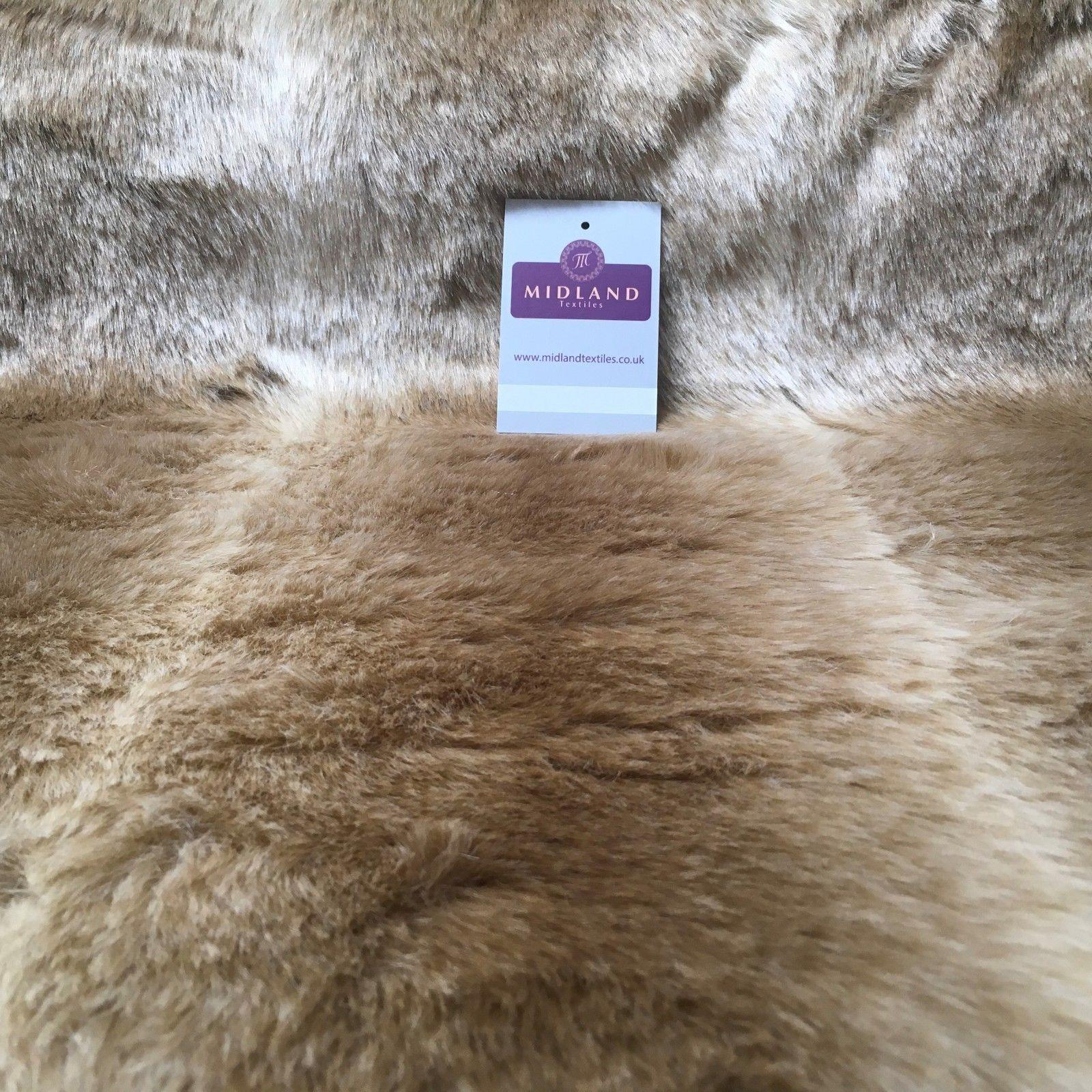 "Luxury Animal & Plain Faux Fur 25mm soft Pile ideal for throws 58"" Wide MT933"