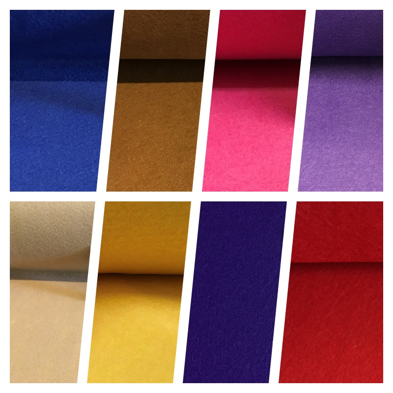 "NEW Plain Felt Arts and Craft Fabric 100% Polyester 35"" Wide M365 Mtex"