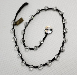 Teresa- Faceted Clear Choker
