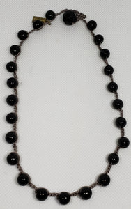 Teresa- Black Short Necklace