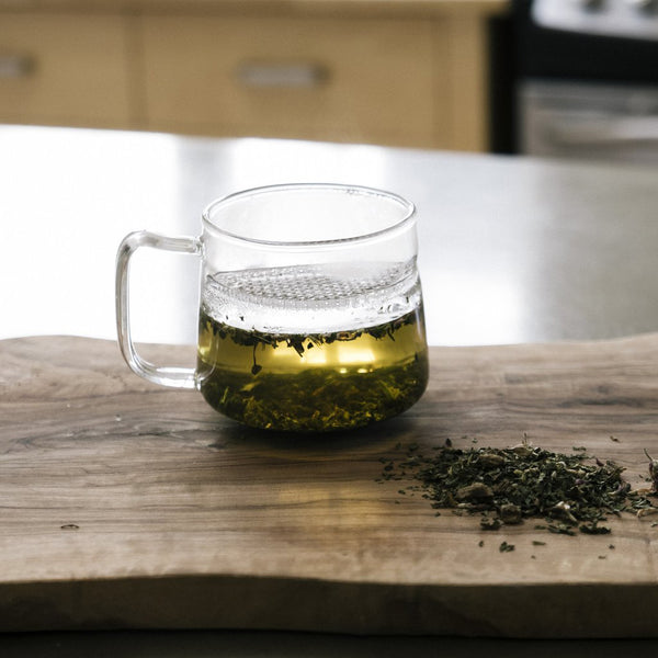 Left-Handed Glass Filter Infusing Mug - The Wall (also comes in Right-handed Models)