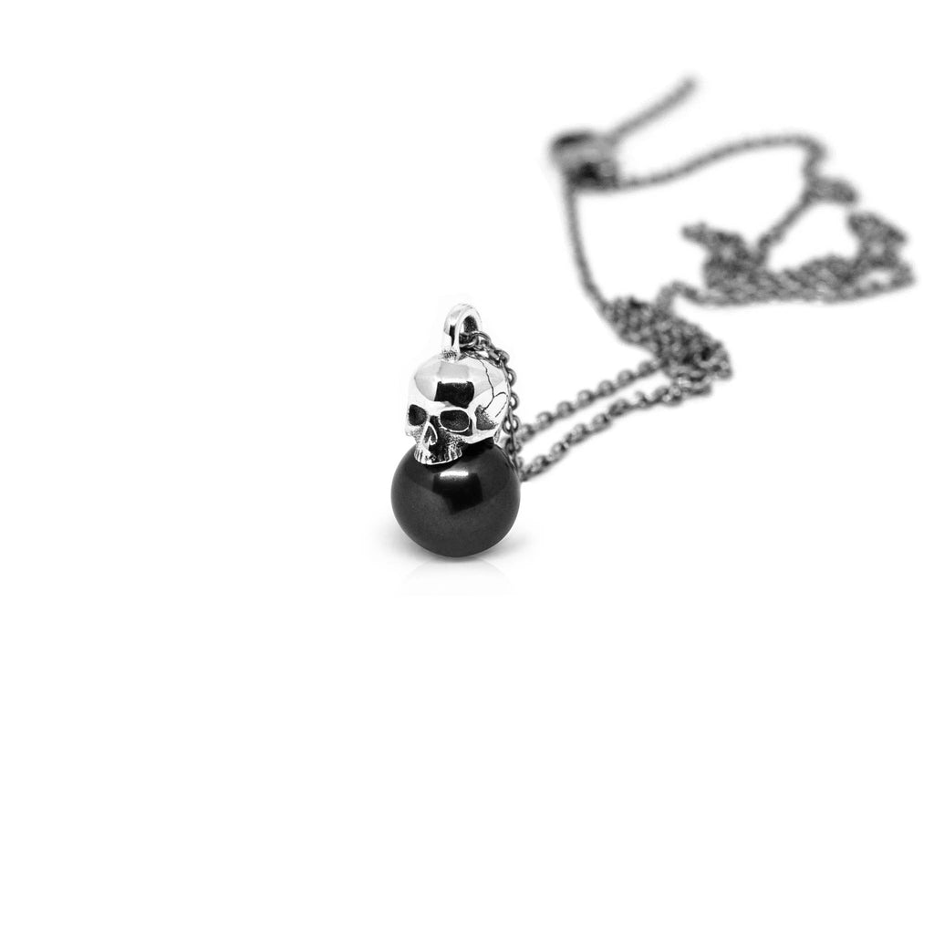 black single pendant necklace co cressida products uk tahitian l pearl
