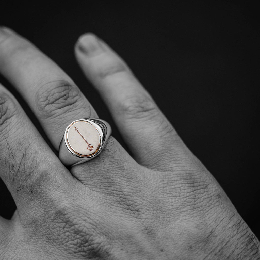 Arrowed Rose Gold