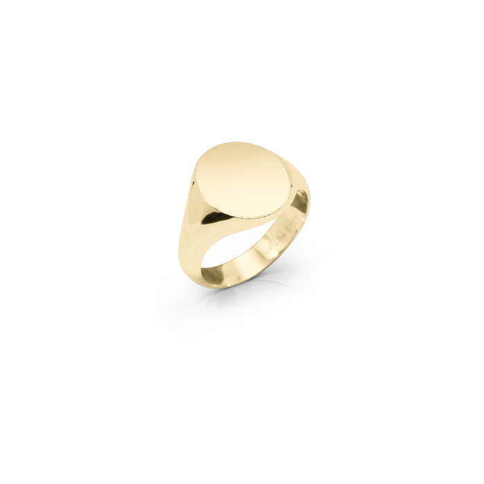 Gold Oval Signet