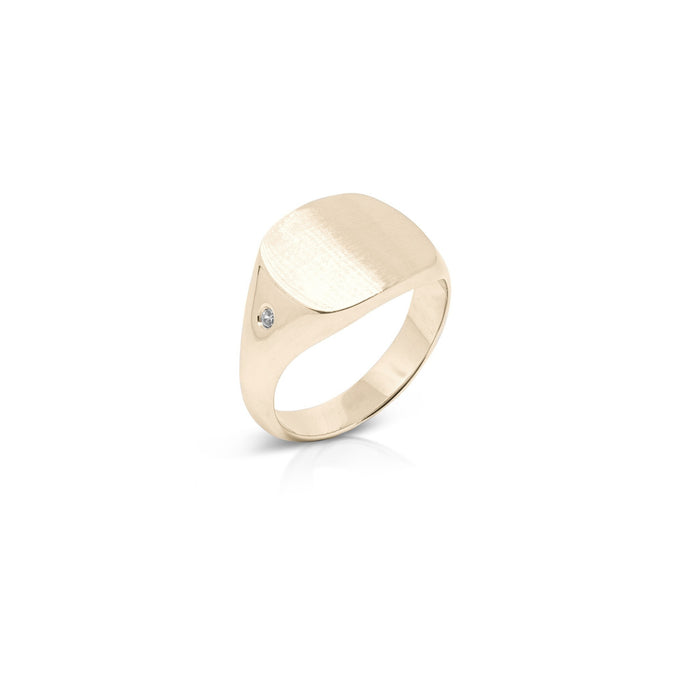 The Curved Cushion Signet w/ Stone
