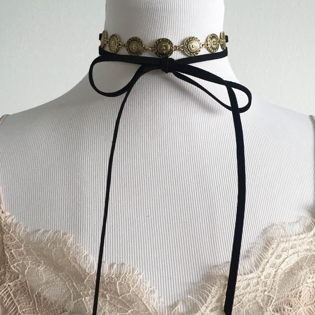 Gold Medallion Choker
