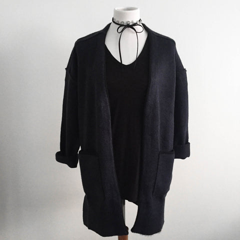 Navy and Black Cardigan