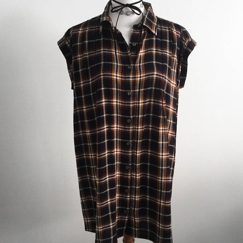 Rust Plaid Dress