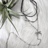 Silver 3 Layer Choker
