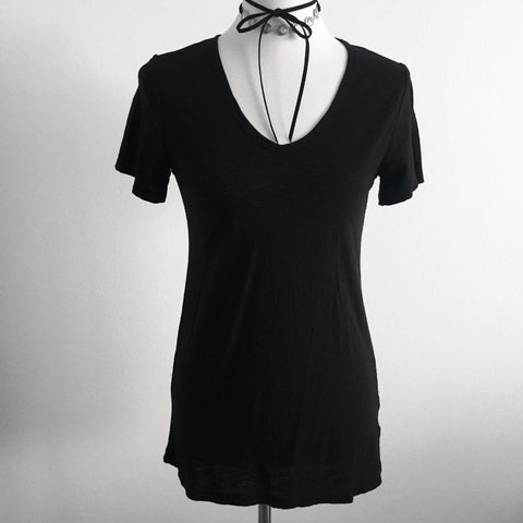 Basic Black V-Neck
