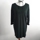 Basic Hunter Green Long Sleeve Dress