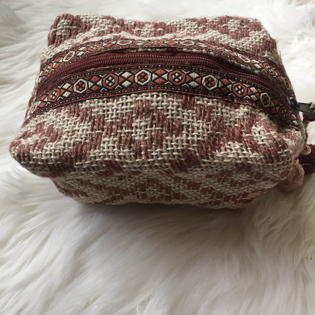 Aztec Carpet Quilted Accessory Bag