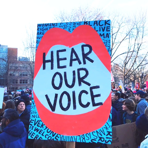 Hear Our Voice - Free Protest Sign Download