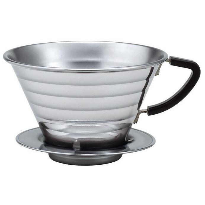 Kalita 185 2-Cup Stainless Steel Wave Dripper