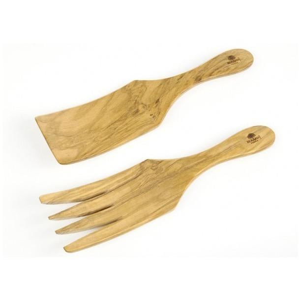 Berard Olive Wood Salad/Spaghetti Serving Set