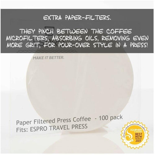 Espro Paper Filter for Coffee Travel Press 100-pack