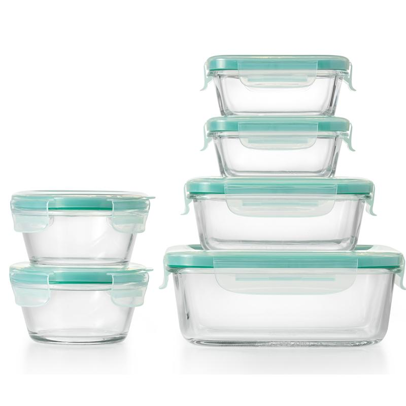 OXO Good Grips SmartSeal 12-Piece Glass Container Set